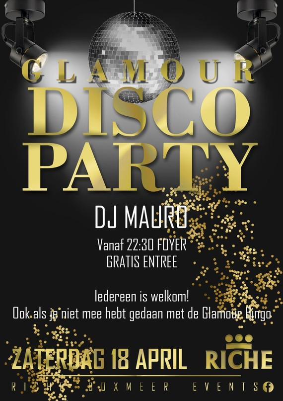 Glamour disco party