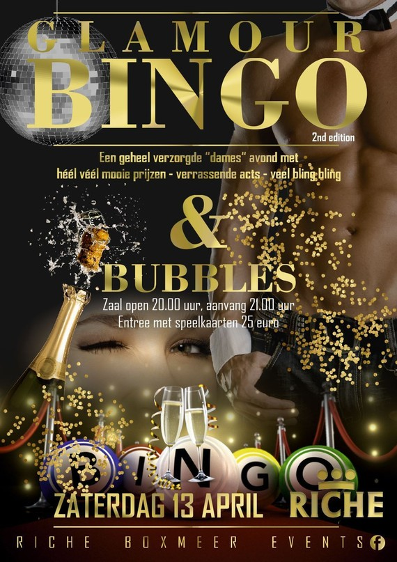Glamour Bingo and bubbles